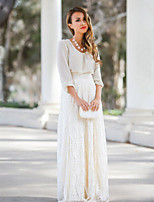 Women's Lace White / Almond Slim Hin Thin  Skirts , Lace / Maxi Maxi