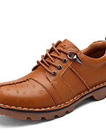 Men's Shoes Outdoor / Office & Career / Casual Leather Oxfords Black / Blue / Brown