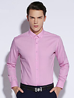 Shirts Button Down Collar Long Sleeve Cotton Gingham Pink / Purple