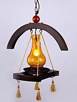 American Village Solid Wood Pendant lamp