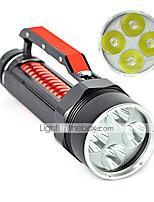 Linternas LED (A Prueba de Agua / Recargable / Resistente a Golpes / Bisel de Impacto / Táctico / Emergencia) - LED 2 Modo 6000 Lumens