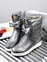 Chaussures Femme - Décontracté - Rose / Rouge / Gris - Talon Plat - Bout Arrondi - Bottes - Polyester