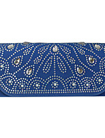 Women Other Leather Type Envelope Clutch / Evening Bag / Checkbook Wallet - Blue / Fuchsia