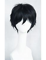 cos Lanting Kagerou Project Kisaragi Shintaro negro corto peluca cosplay del anime partido pelo