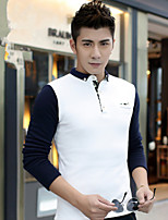 New winter man city fashion leisure and velvet thickening cold warm long sleeve T-shirt