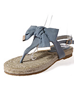 Women's Shoes Leatherette Flat Heel Ankle Strap / Styles / Open Toe Sandals Outdoor / Casual Blue