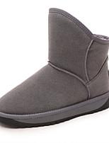Calçados Femininos - Botas - Arrendondado - Salto Baixo - Preto / Vermelho / Cinza - Courino - Casual