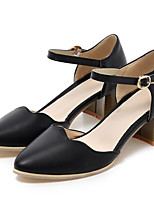 Women's Shoes Leatherette Chunky Heel Heels / Styles / Pointed Toe Heels Outdoor / Dress / Casual Black / Blue / White