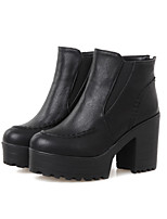 Women's Shoes Leatherette Chunky Heel Fashion Boots Boots Outdoor / Dress / Casual Black / Yellow / White