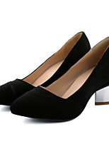 Women's Shoes Leatherette Chunky Heel Heels Heels Outdoor / Dress / Casual Black / Blue / Brown