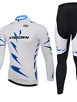 XINTOWN Men's Long Sleeve Spring/Autumn/Winter Cycling Suits Pants/Bib TightsBreathable/Moisture Permeability Jersey