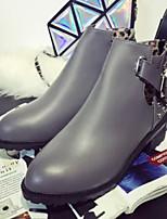 Chaussures Femme - Extérieure - Noir / Gris - Talon Bas - Confort - Bottes - Similicuir