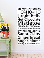 Merry Christmas English Greetings Proverbs Wall Stickers Art Decals