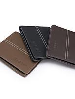 Bi-fold (due scomparti) - Portafoglio / Porta carte di credito / Portamonete - Uomo - PU - Marrone / Nero / Kaki