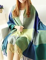 Women Cashmere Stitching Color Warm Shawl