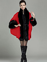 Women's Fashion Faux Fur Knitting  Warmth Shawl