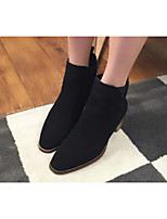 Women's Shoes Leatherette Chunky Heel Styles Boots Outdoor / Casual Black / Brown