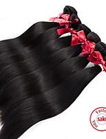 cheveux vierge extensions droites soyeux péruviens haut 2pcs de qualité / lot non traité remy péruvien cheveux raides humaine
