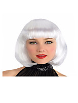Top Quality Cool BOBO Girl Short Women's Halloween Party Wig White Color