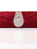 Women's Purse Fashion Silk Diamante Vintage Evening Bag Korean Style Wedding Party Bride Bag Clutch Bag