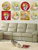 Botanical / Fashion Wall Stickers Plane Wall Stickers , PVC 60cm*60cm