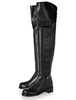Chaussures Femme - Bureau & Travail / Habillé / Soirée & Evénement - Noir - Talon Plat - Rangers / Bottes à la Mode - Bottes - Similicuir