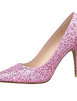 Women's Shoes Glitter Stiletto Heel Heels / Pointed Toe Heels Outdoor / Casual Black / Pink / Purple / Red / Silver