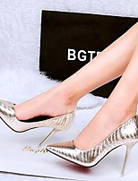 Women's Shoes AmiGirl Best Sale Patent Leather Stiletto Heels with Flow Mark Party/Dress Black/Gold/Silver
