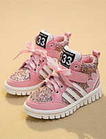 Girls' Shoes Outdoor / Athletic / Casual Comfort Tulle Fashion Sneakers Black / Pink / Red