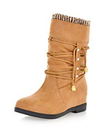 Women's Shoes Platform Fashion Boots / Comfort Boots Outdoor / Office & Career / Casual Black / Yellow / Gray