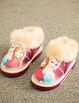 Girls' Shoes Casual Bootie / Comfort / Cap-Toe Leatherette Boots Blue / Pink / Purple / Khaki