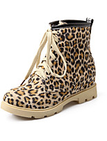 Women's Shoes Denim Platform Fashion Boots / Comfort Boots Outdoor / Casual Yellow / Red / Animal Print