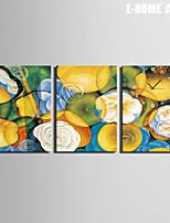 Quadrato Moderno/Contemporaneo Orologio da parete , Altro Tela