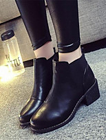 Women's Shoes Chunky Heel Round Toe Boots Casual Black / Yellow