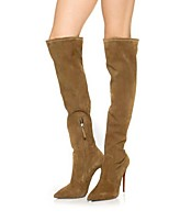 Chaussures Femme - Habillé / Décontracté / Soirée & Evénement - Kaki - Talon Aiguille - Bout Pointu / Bottes à la Mode - Bottes -Laine