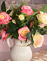 Seda / Plástico Rosas Flores Artificiales