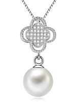 2015 New Design Fresh Water Pearl Pendant 925 Silver Necklace
