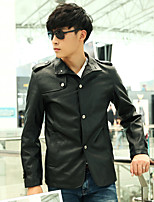 Men Faux Leather Outerwear / Top , Belt Not Included
