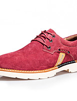 Men's Shoes Outdoor / Athletic / Casual Suede Oxfords Yellow / Red