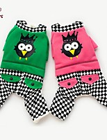 FUN OF PETS® Houndstooth Cute Bird Pattern Coat Jumpsuit for Pets Dogs (Assorted Sizes and Colours)
