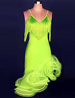 Vestidos ( Fucsia / Verde / Morado , Spandex , Danza Latina / Desempeño / Samba ) - Danza Latina / Desempeño / Samba - para Mujer