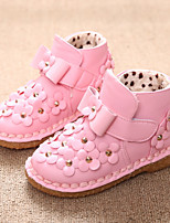 Girls' Shoes Dress / Casual Bootie / Comfort Boots Pink / Red / Multi-color
