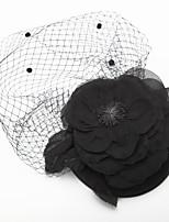 Dame / Blomsterpige Tyll / Chiffon / Stoff Headpiece Bryllup / Spesiell Leilighet Fuglebur Slør Bryllup / Spesiell Leilighet 1 Deler