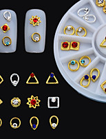 24PCS Japanese Nail Putiel New Metal Jewelry Alloy Wheel Disc Boxed