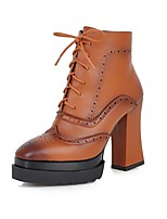 Women's Shoes Chunky Heel/ Fashion Boots / Square Toe Boots Dress / Casual Black / Brown