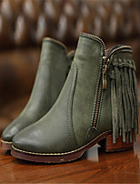Women's Shoes  Chunky Heel Round Toe / Closed Toe Boots Casual Black / Green
