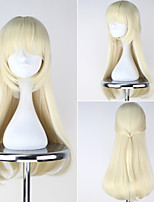 White Rabbit Personification Long Wavy Blonde Color Anime Cosplay Full Wig
