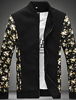 Men's Long Sleeve Jacket , Others Casual Print