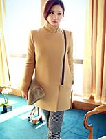 Cappotto Da donna Casual Manica lunga Misto lana