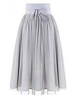 Women's 2015 New Casual Midi Skirts